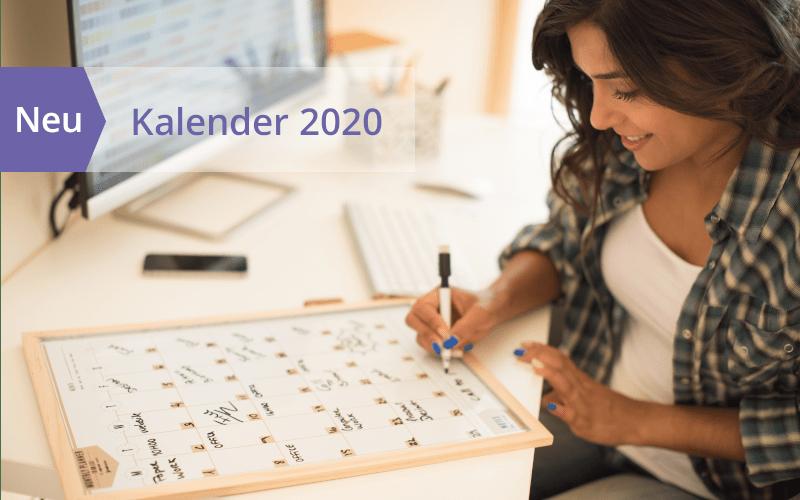Jetzt erhältlich: Kalender und Zeitplaner für 2020