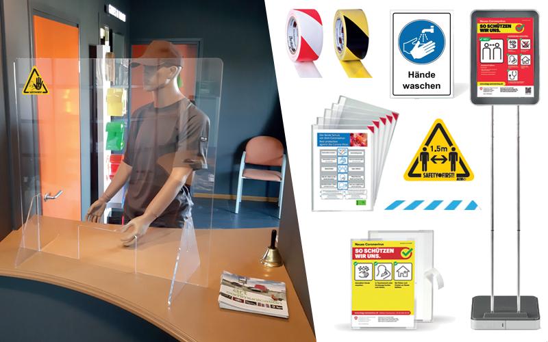 Neu im Sortiment: Hygiene- und Sicherheitsprodukte