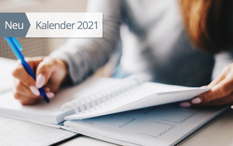 Jetzt erhältlich: Kalender und Zeitplaner für 2021